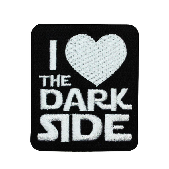 Star Wars Logo Patch I Heart The Dark Side Iron-On Patch Licensed Crest Applique