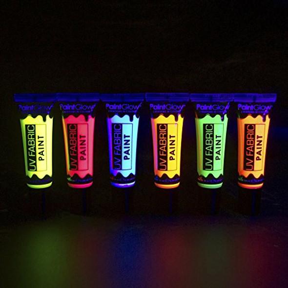 UV Neon Red Fabric Paint Glow Make-Up Bright Festival Club Rave EDM 10ml Tube
