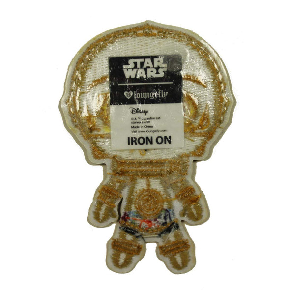 Star Wars The Phantom Menace C-3PO Emoji Chibi Logo Iron on Patch Applique