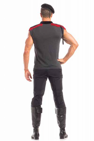 Be Wicked Outstanding Officer Costume Mens Army Military Soldier Sleeveless 2Pce