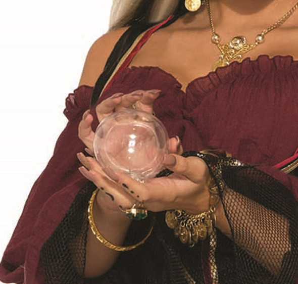 Fortune Teller Gypsy Crystal Ball Ring w Crystal Ball Halloween Costume Jewelry