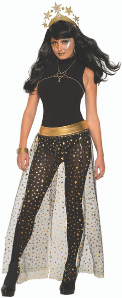 Celestial Stars Moons Skirt Overlay Adult Women's Halloween Costume Accessory OS