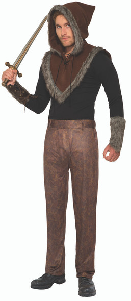 Brown Viking Pants Leather Look Sublimated Adult Mens Costume Accessory STD
