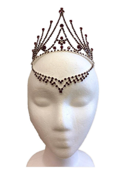 Red Fairy Tiara Medieval Gothic V Drop Evil Queen Halloween Costume Accessory