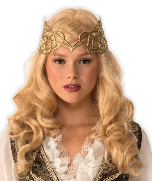 Women's Medieval Fantasy Gold Crown Renaissance Princess Queen Costume Acces.