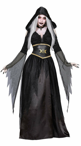Pagan Witch Adult Women's Halloween Costume Wiccan Witchcraft Moon Goddess SM-XL