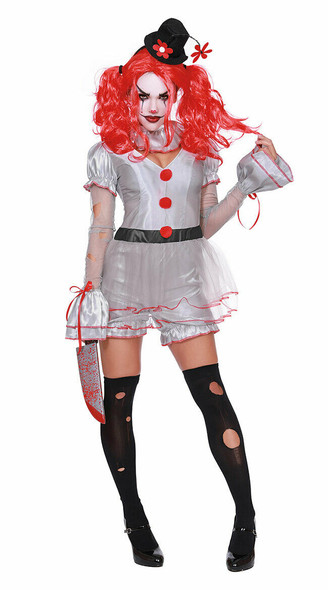 Dreamgirl Wicked Clown IT Style Sexy Adult Women's Halloween Costume XS-XL