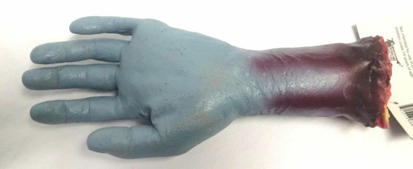 "11"" Zombie Hand Severed Limb Halloween Haunted House Prop Blue Walking Dead"