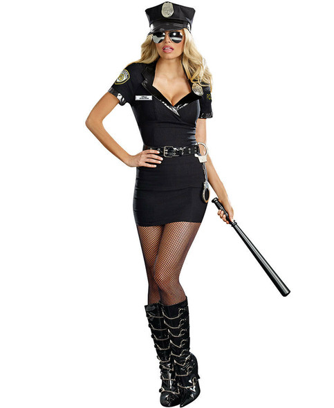 Dreamgirl Dirty Cop Officer Anita Bribe Adult Women's Costume Sexy Police SM-XL