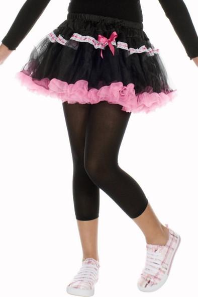 Music Legs Girls Opaque Leggings Black Children Nylon Costume SM-XL