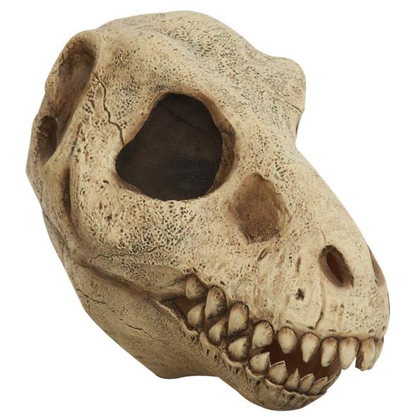 T-Rex Skull Adult Latex Mask Dead Jurassic Dinosaur Animal Costume Accessory