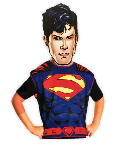 Superman Birthday Party Dress-Up Costume Set Boys Child Paper Mask Tunic Small