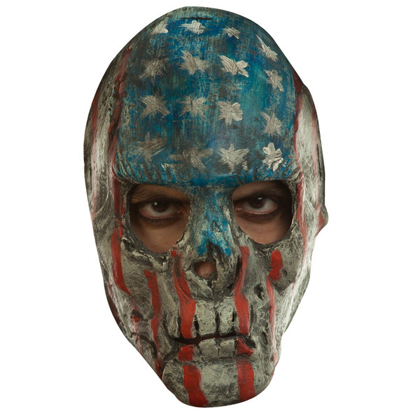 Creepy Patriotic Skull USA Flag Latex Mask Purge Style Scary Halloween Accessory