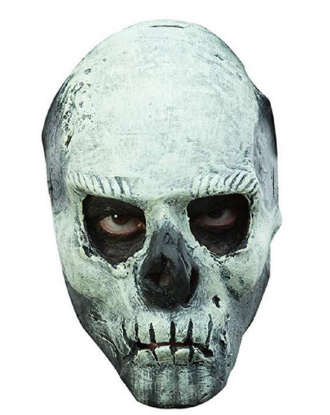 Glow In The Dark Skull Half Latex Face Mask GID Adult Teen Halloween Accessory