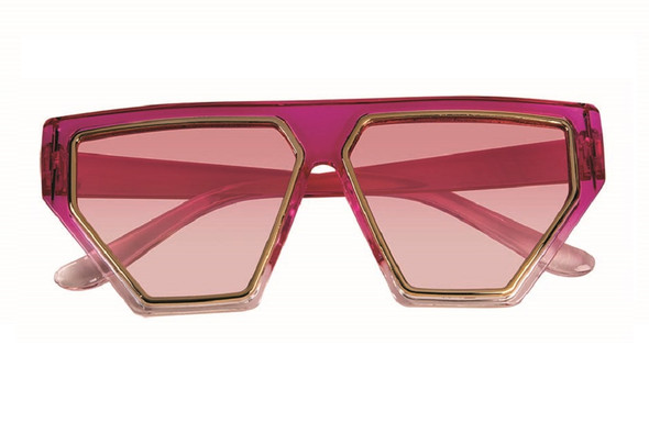 80s To The Maxx Totally Stylin' Sunglasses Pink Abstract Retro Costume Accessory