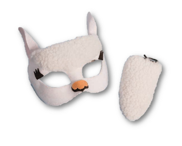 Farm Animal Cute Llama Disguise Kit Child Mask & Tail Costume Accessory New