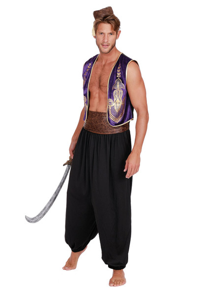 Dreamgirl Arabian Prince Aladdin Inspired Desert King Adult Men's Costume MD-XXL