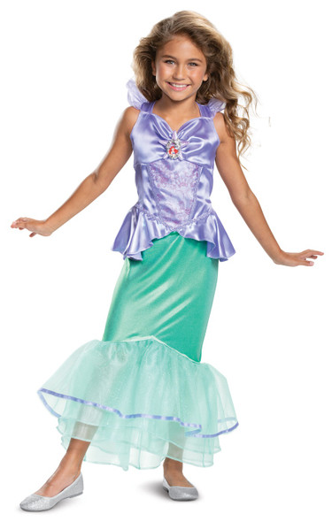 Disney The Little Mermaid Ariel Deluxe Princess Costume Dress Girls XS-MD