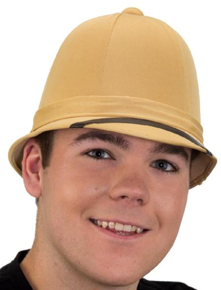 Tan Safari Hunter Jungle Pith Helmet Hat Adult Steampunk Costume Accessory