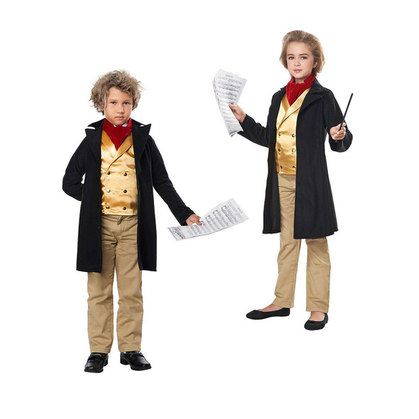 Famous Music Composer Beethoven Unisex Child Costume Historical School Play 6-8