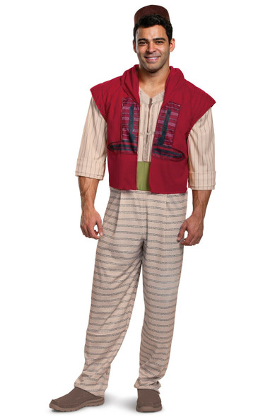 Disney Licensed Deluxe Aladdin Adult Men's Halloween Live Action Costume MD-XXL