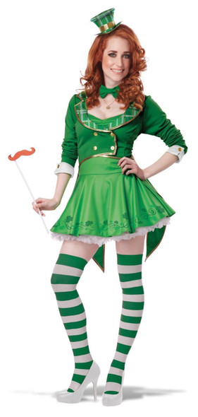 Lucky Charm Leprechaun Adult Women's St. Patrick's Day Costume Dress Green XS-XL