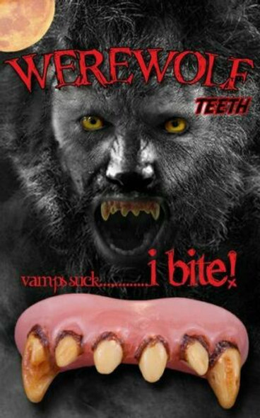 Billy-Bob Werewolf Teeth Ugly Beast Fangs Custom Fit Fake Halloween Accessory