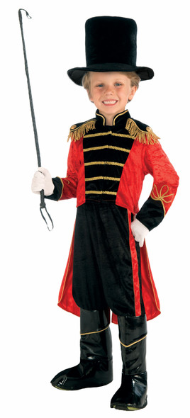 Ringmaster Lion Tamer Circus Child Costume Jacket with Tails Top Hat Pants Kids