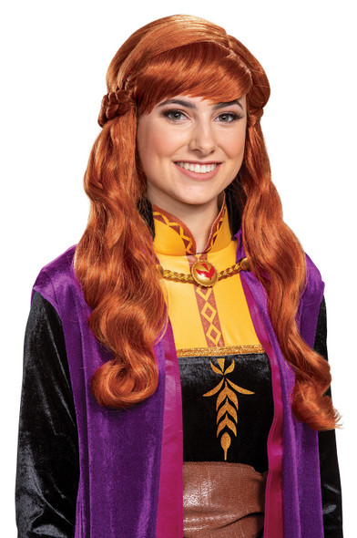 Disney Frozen II Anna Wig With Braid Adult Women's Licensed Costume Accessory