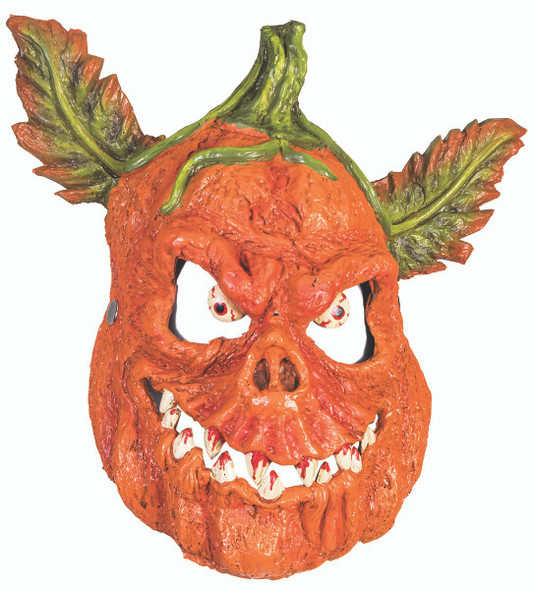 Evil Pumpkin Half Mask EVA/PU Foam Halloween Costume Accessory Jack-O-Lantern