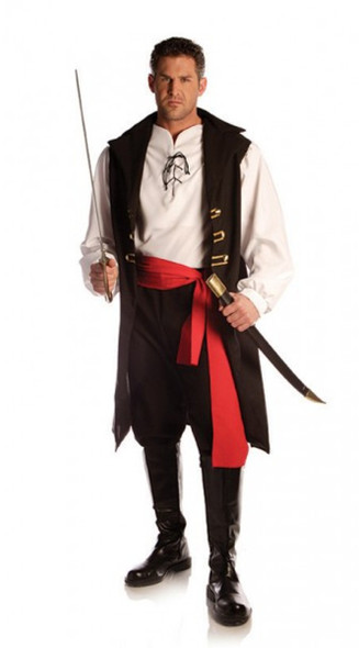 Captain Cutthroat Pirate Carribean Buccaneer Adult Men's One Size Costume