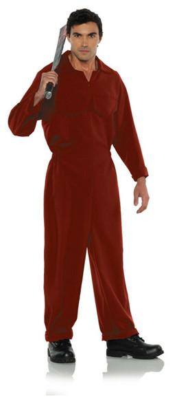 Red Boiler Suit Jumpsuit Serial Killer Psycho Adult Halloween Costume STD-XXL