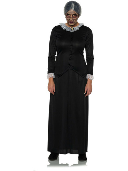 Scary Nanny Eerie Granny Evil Mother Adult Women's Halloween Costume XS-XL