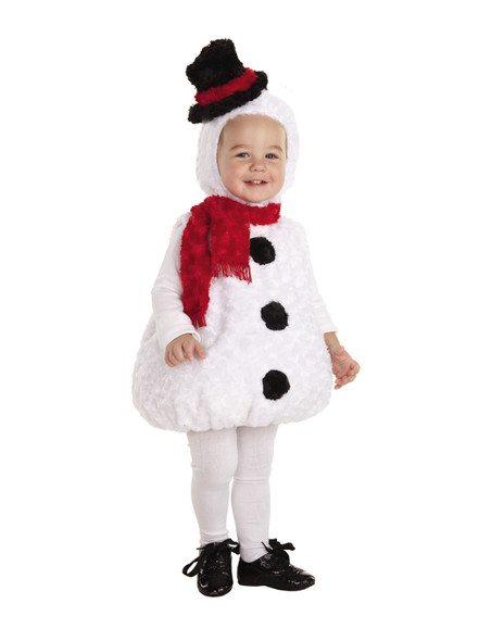 Underwraps Belly Babies Frosty Snowman Costume Baby Toddler Child Size White
