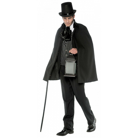 Gothic Villain Victorian Scrooge Jack The Ripper Adult Halloween Costume STD-XXL