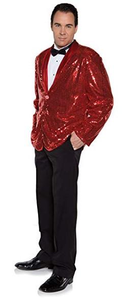 Red Sequin Costume Jacket Mens Adult Jazz Dance Showbiz St. Valentine STD-XXL