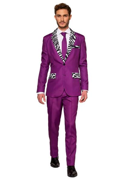 Suitmeister Purple Pimp Zebra Stripes Suit Adult Men's Halloween Costume MD-LG