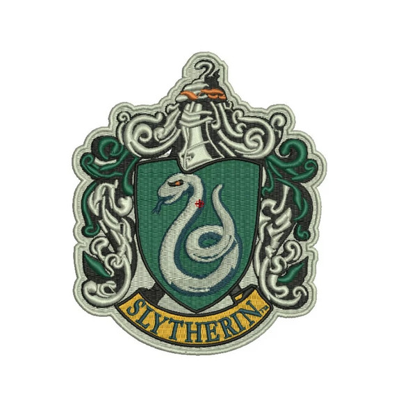 Harry Potter Slytherin House Crest Applique Patch Embroidered Iron-On