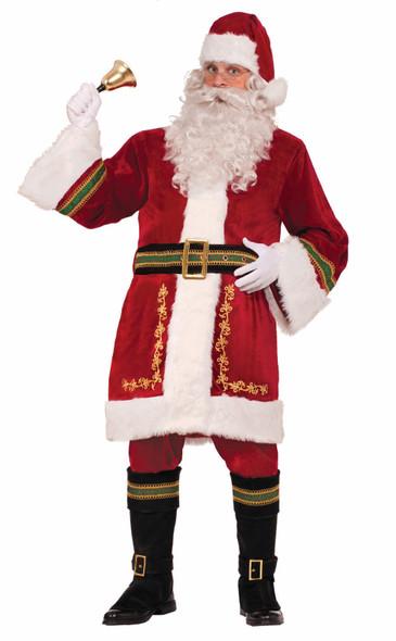 Premium Classic Santa Claus Adult Costume Christmas Standard Size Deluxe Quality