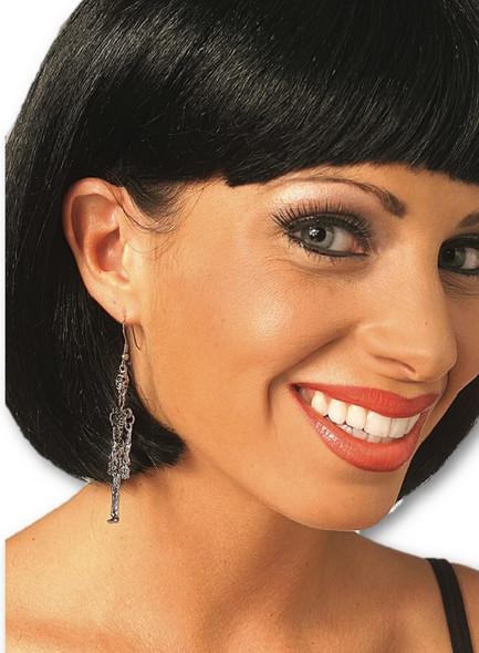Metal Skeleton Earrings For Pierced Ears Adult Halloween Goth Gothic Jewelry