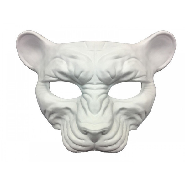 Paint Create Decorate Leopard Cat White Mask Mardi Gras Costume Decor Crafts DIY