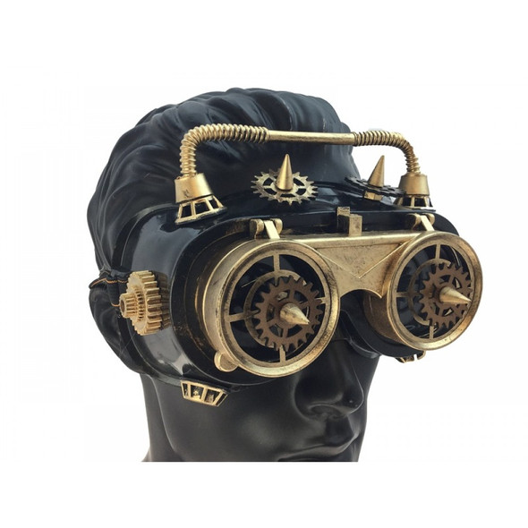 Steampunk Flip-Up Welding Goggles Antique Gold Cyber Punk Cosplay Glasses