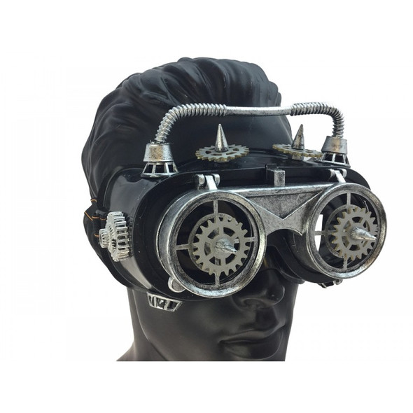 Steampunk Flip-Up Welding Goggles Antique Silver Cyber Punk Cosplay Glasses