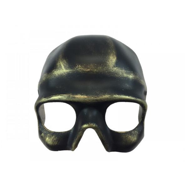 Antique Gold Skull Half Face Mask Skeleton Venetian Masquerade Party Adult