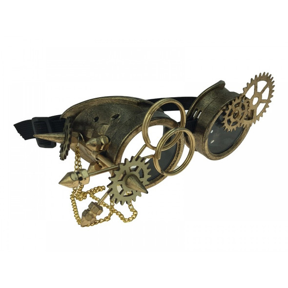 Steampunk Goggles Antique Gold Cyber Punk Cosplay Victorian Glasses Accessory