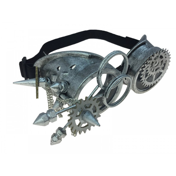 Steampunk Goggles Antique Silver Cyber Punk Cosplay Victorian Glasses Accessory