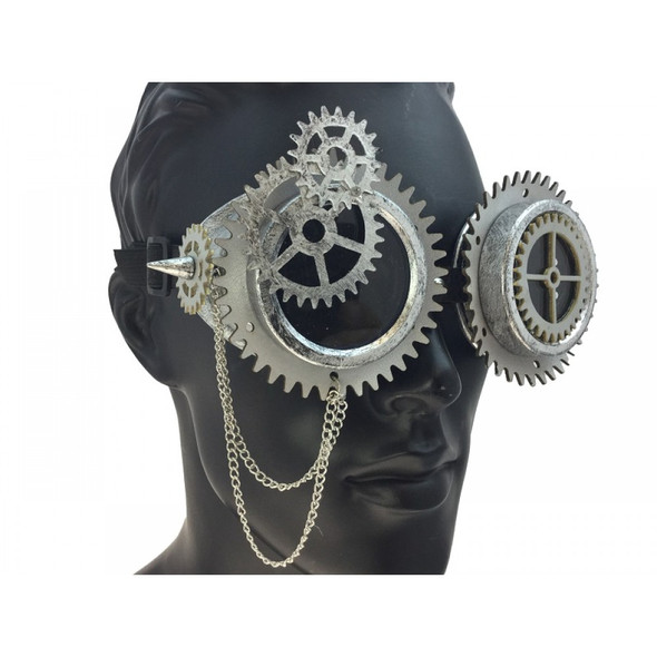Steampunk Silver Goggles Cyber Gears Punk Cosplay Victorian Glasses Accessory