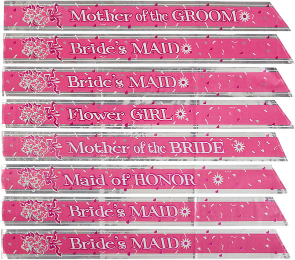 8 Bridal Party Sashes Set Bride Tribe Bridesmaid Maid Of Honor Mothers Hen Night