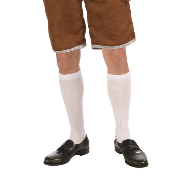 Oktoberfest White Knee High Socks Lederhosen Adult Men's Costume Accessory