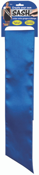 Plain Blank Unprinted Create Your Own Design DIY Blue Satin Sash Party Access.